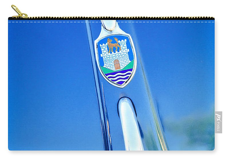 Volkswagen Vw Emblem Carry-all Pouch featuring the photograph Volkswagen Vw Emblem by Jill Reger