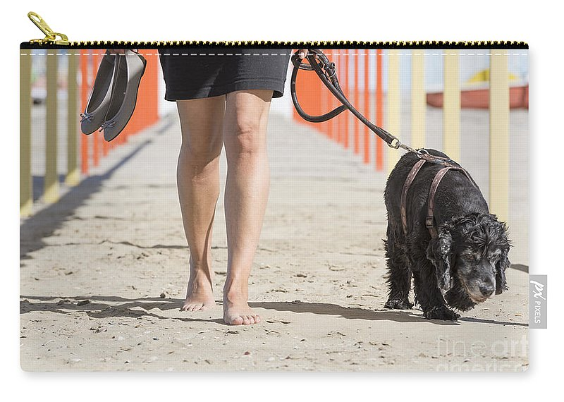 Woman Carry-all Pouch featuring the photograph Walking by Mats Silvan