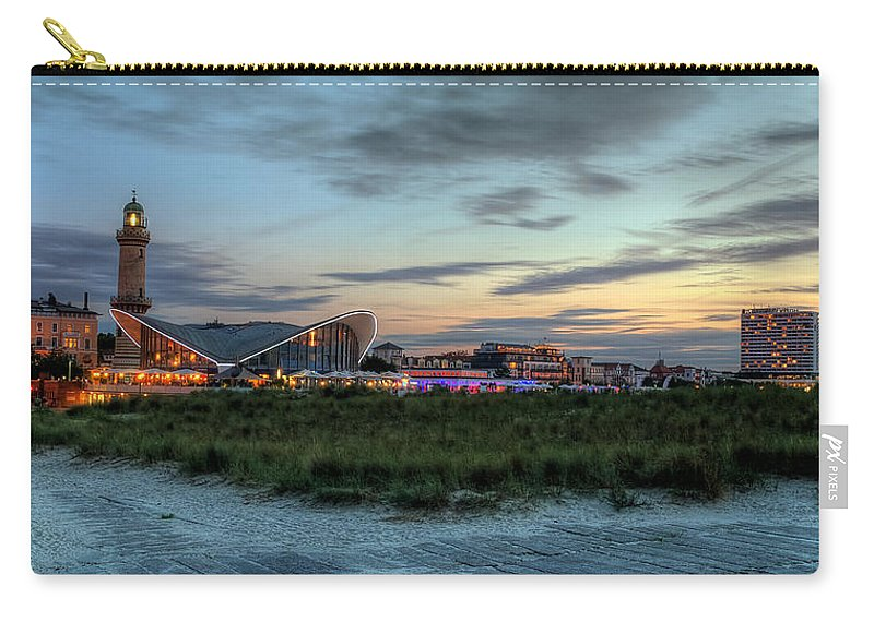 Ostsee Carry-all Pouch featuring the pyrography Warnemuende by Steffen Gierok