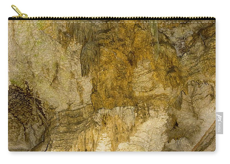 Longhorn Caverns State Park Texas Cave Caves Cavern Sandstone Formation Formations Underground Carry-all Pouch featuring the photograph Longhorn Caverns Water Creation by Bob Phillips