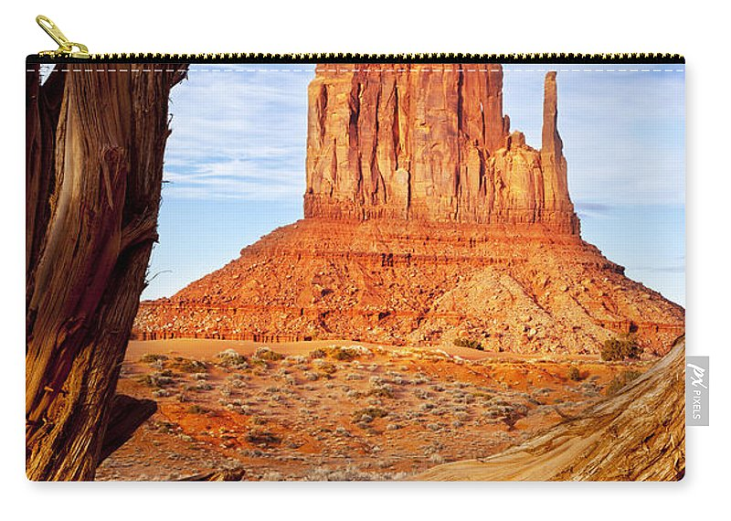 America Carry-all Pouch featuring the photograph West Mitten Monument Valley by Brian Jannsen