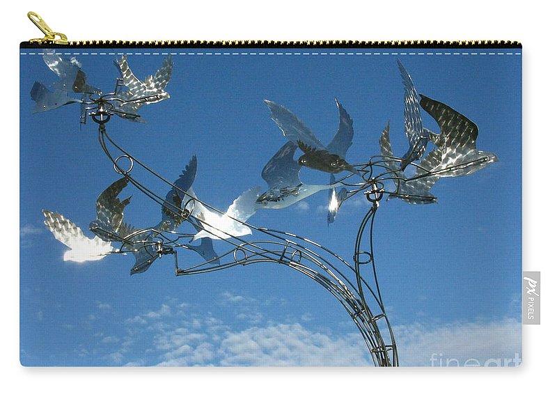 Whirlybird Carry-all Pouch featuring the photograph Whirlybird by Peter Piatt