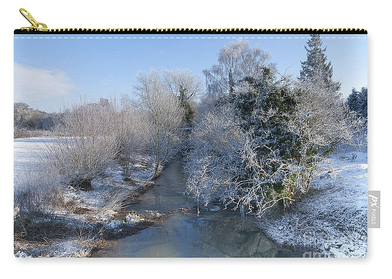 Birds Carry-all Pouch featuring the photograph Winter Landscape by Svetlana Sewell