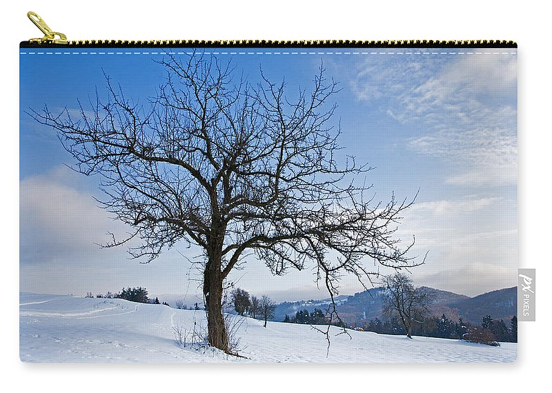 Trees Carry-all Pouch featuring the photograph Winter Landscapes by Ian Middleton