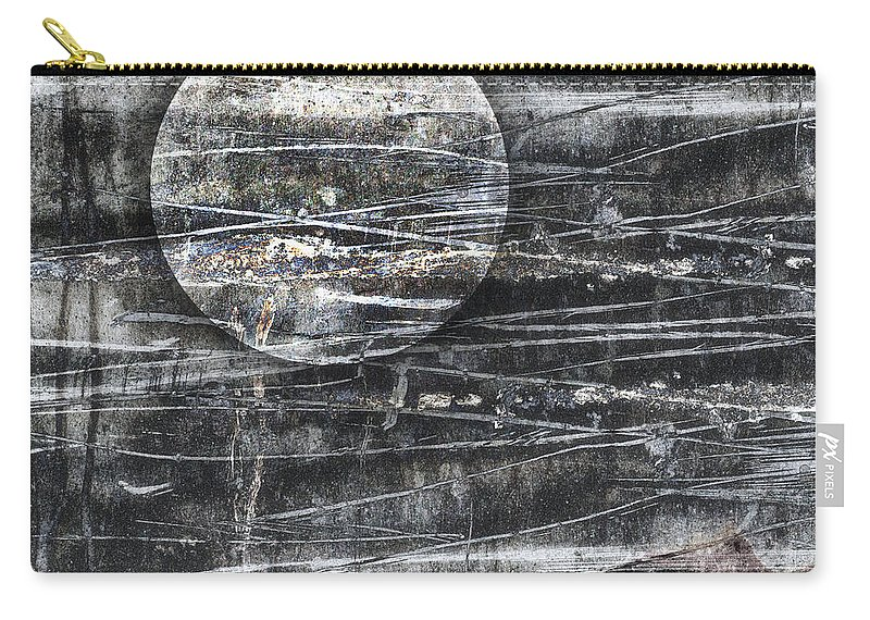 Moon Carry-all Pouch featuring the photograph Winter Moon by Carol Leigh