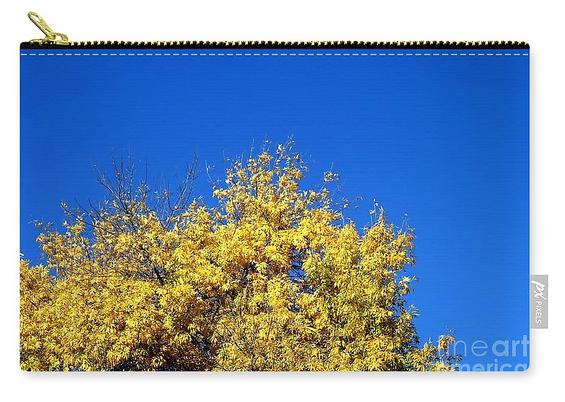 Tree Carry-all Pouch featuring the photograph Yellow Autumn Tree by Henrik Lehnerer