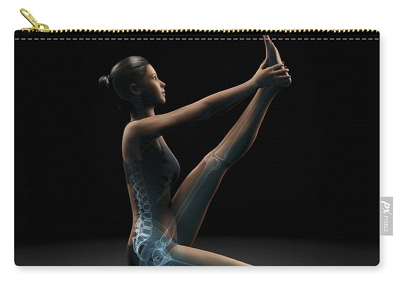 Transparent Carry-all Pouch featuring the photograph Yoga Heron Pose by Science Picture Co