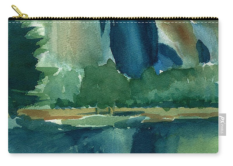 Yosemite National Park Carry-all Pouch featuring the painting Yosemite National Park by Frank Bright