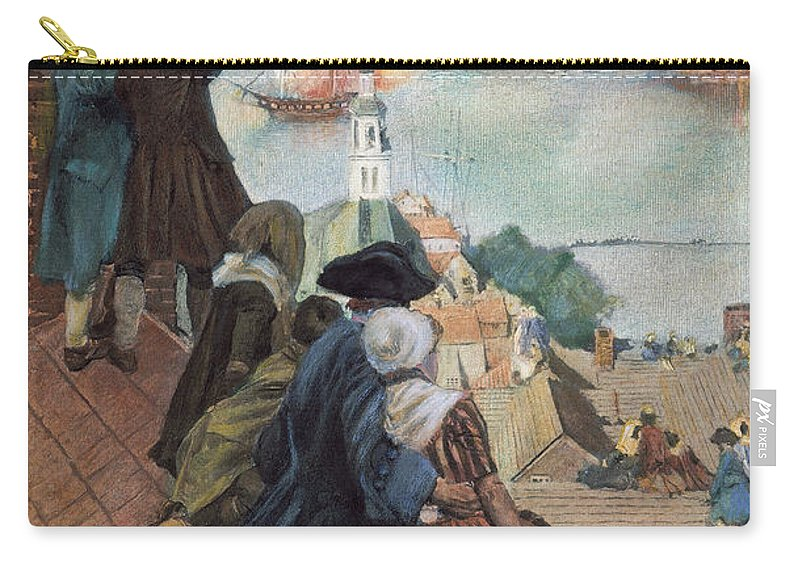 1775 Carry-all Pouch featuring the photograph Battle Of Bunker Hill, 1775 by Granger