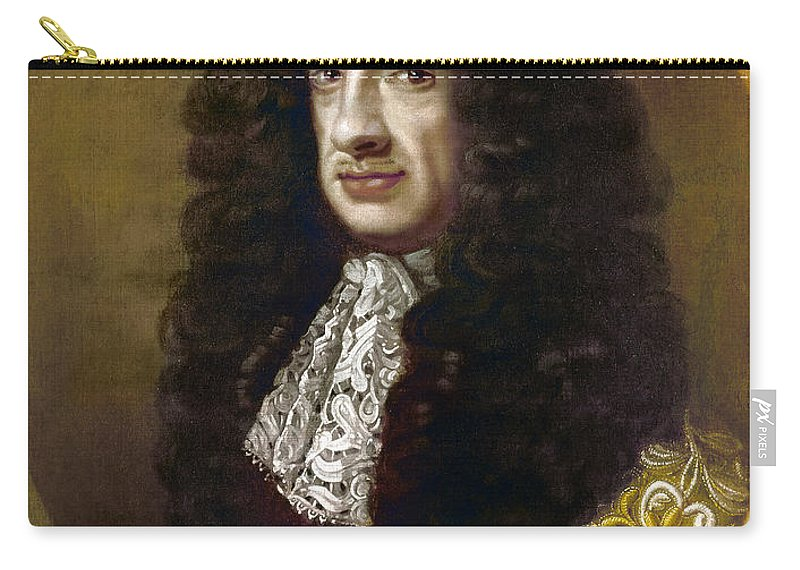 1670 Carry-all Pouch featuring the painting Charles II (1630-1685) by Granger