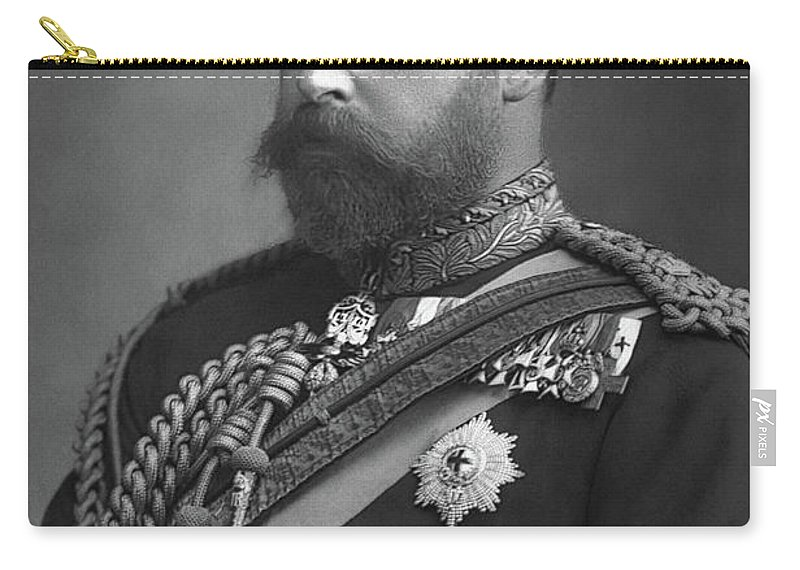 1890 Carry-all Pouch featuring the photograph Edward Vii (1841-1910) by Granger
