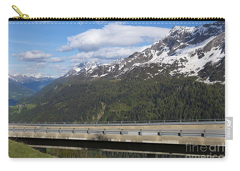 Mountain Carry-all Pouch featuring the photograph Mountain Road by Mats Silvan