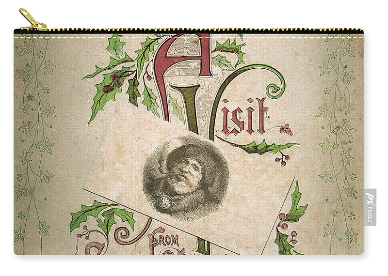 1862 Carry-all Pouch featuring the photograph Night Before Christmas by Granger