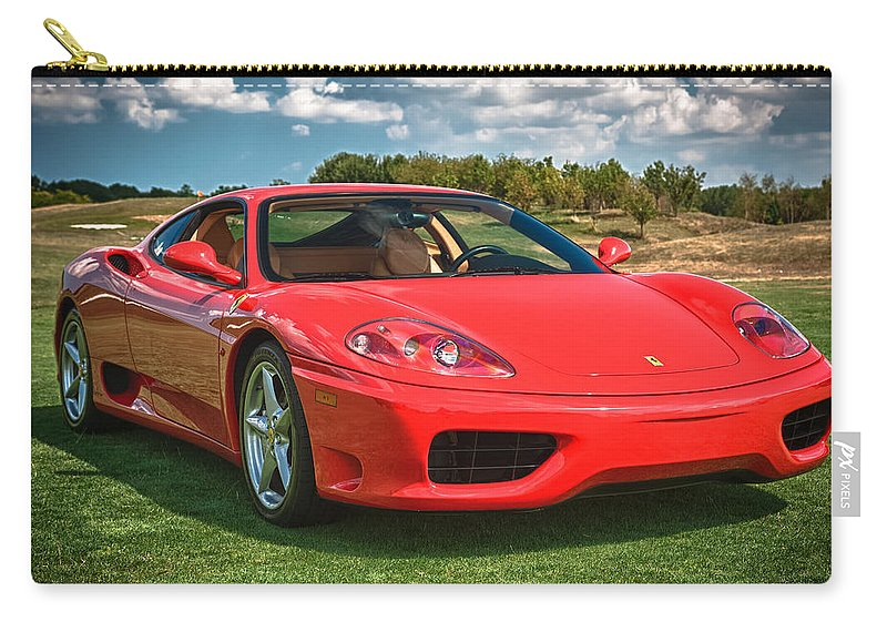 2001 Ferrari Carry-all Pouch featuring the photograph 2001 Ferrari 360 Modena by Sebastian Musial