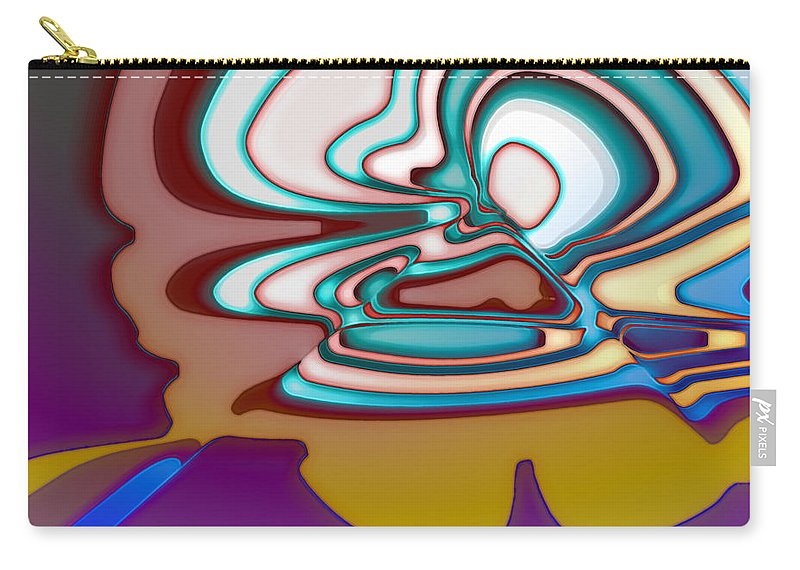Carry-all Pouch featuring the digital art 2001043 by Studio Pixelskizm