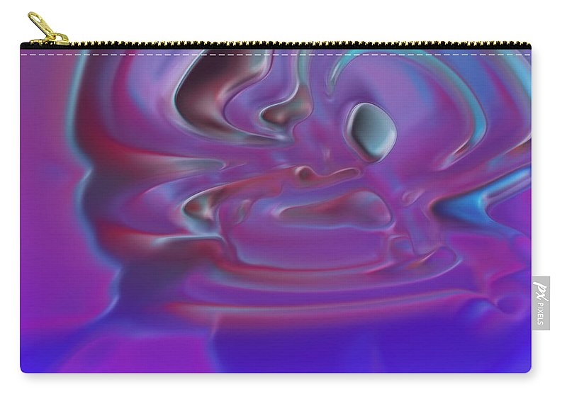 Carry-all Pouch featuring the digital art 2001056 by Studio Pixelskizm