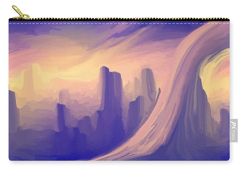 Carry-all Pouch featuring the digital art 2003096 by Studio Pixelskizm