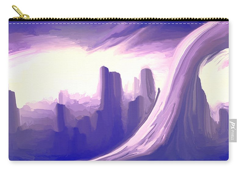 Carry-all Pouch featuring the digital art 2003097 by Studio Pixelskizm