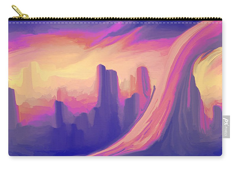 Carry-all Pouch featuring the digital art 2003098 by Studio Pixelskizm