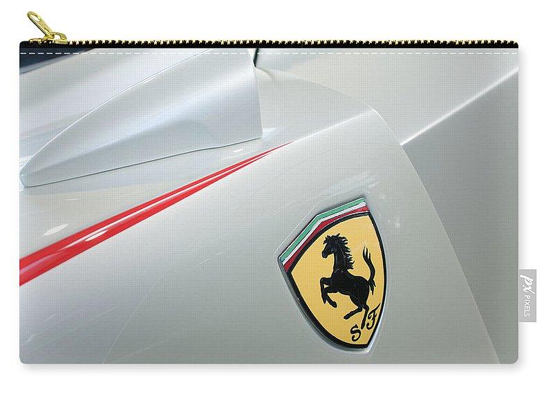 2005 Ferrari Fxx Evoluzione Emblem Carry-all Pouch featuring the photograph 2005 Ferrari Fxx Evoluzione Emblem by Jill Reger