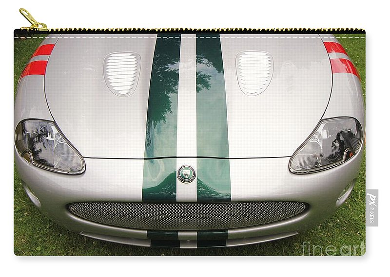 Jaguar Car Carry-all Pouch featuring the photograph 2005 Jaguar Xkr Stirling Moss Signature Edition by Allen Beatty