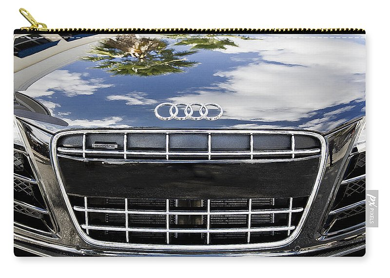 Audi Car Carry-all Pouch featuring the photograph 2012 Audi R8 Quattro by Rich Franco