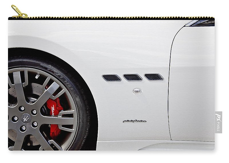 Italian Cars Carry-all Pouch featuring the photograph 2012 Maserati Gran Turismo S by Rich Franco