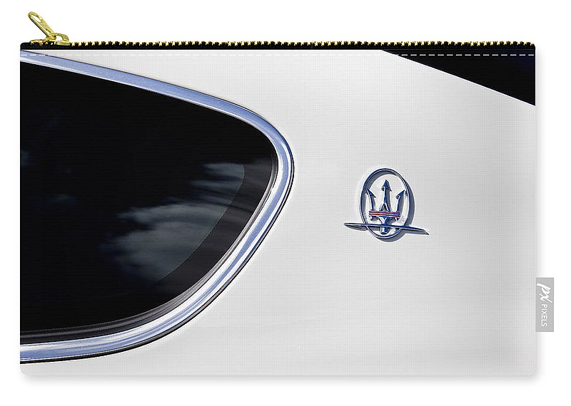 Italian Cars Carry-all Pouch featuring the photograph 2012 Maserati Granturismo S by Rich Franco