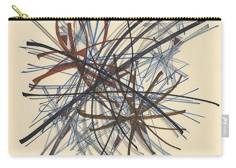 Abstract Carry-all Pouch featuring the drawing 2014 Abstract Drawing #8 by Lynne Taetzsch