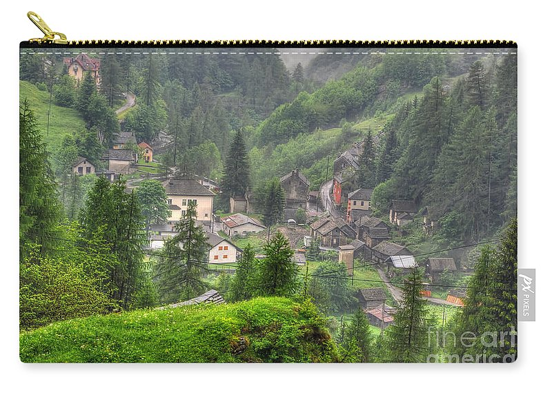 Alpine Village Carry-all Pouch featuring the photograph Alpine Village by Mats Silvan