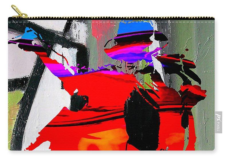 Michael Paintings Mixed Media Mixed Media Mixed Media Mixed Media Carry-all Pouch featuring the mixed media Michael Jackson by Marvin Blaine