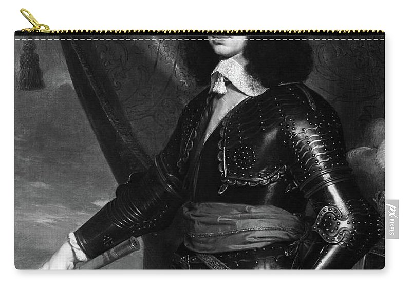 1653 Carry-all Pouch featuring the painting Charles II (1630-1685) by Granger