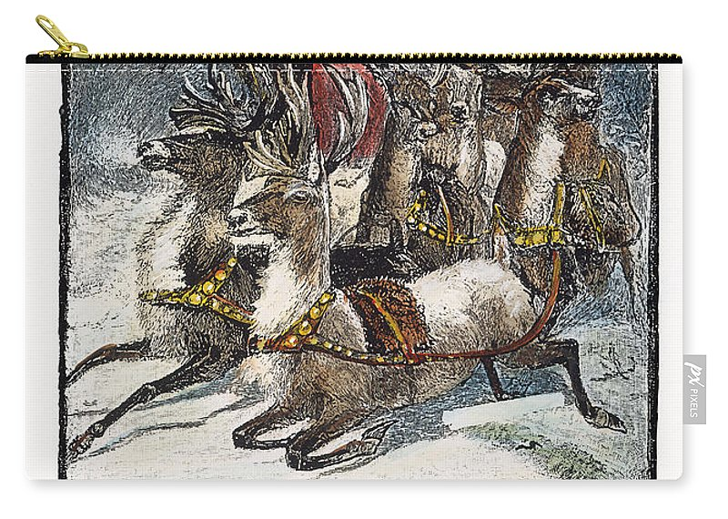 1883 Carry-all Pouch featuring the photograph Night Before Christmas by Granger