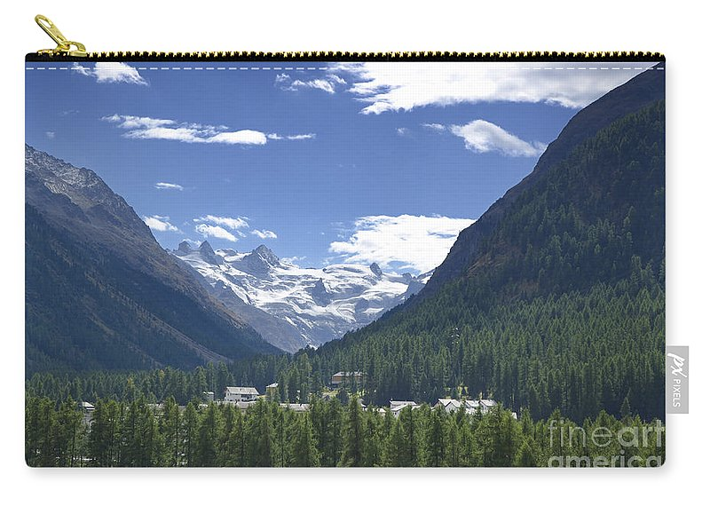 St Moritz Carry-all Pouch featuring the photograph Alpine Village by Mats Silvan
