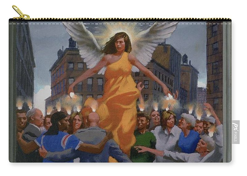 Jesus Carry-all Pouch featuring the painting 23. The Holy Spirit Arrives / From The Passion Of Christ - A Gay Vision by Douglas Blanchard