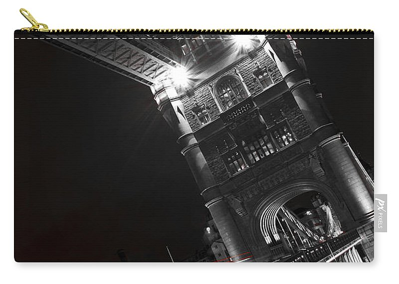 Tower Bridge Carry-all Pouch featuring the photograph Tower Bridge London by David Pyatt
