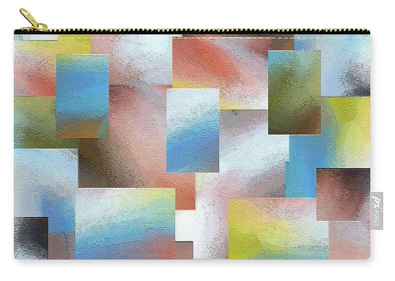 Abstract Carry-all Pouch featuring the painting 235a by Ely Arsha