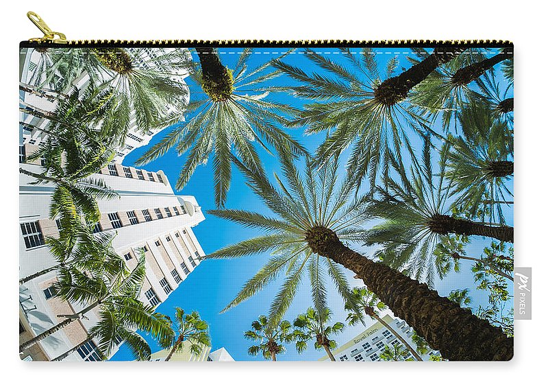 Architecture Carry-all Pouch featuring the photograph Miami Beach by Raul Rodriguez