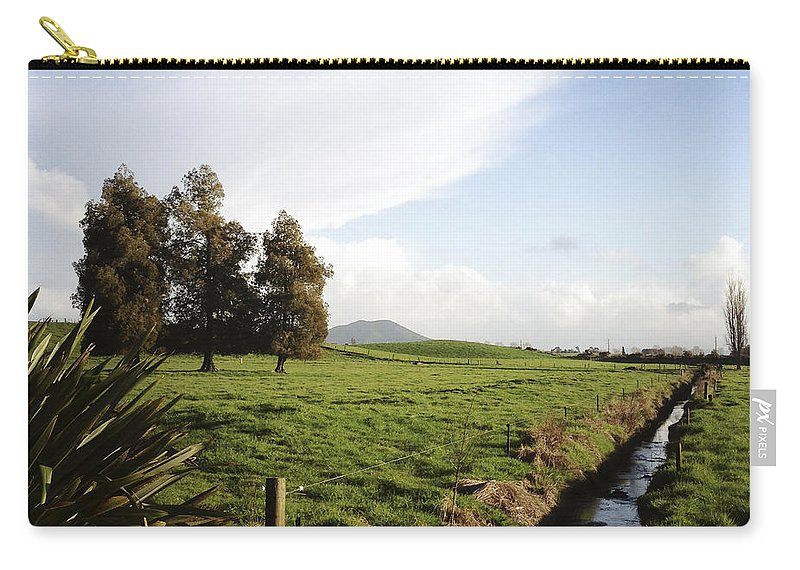 Drain Carry-all Pouch featuring the photograph New Zealand by Les Cunliffe