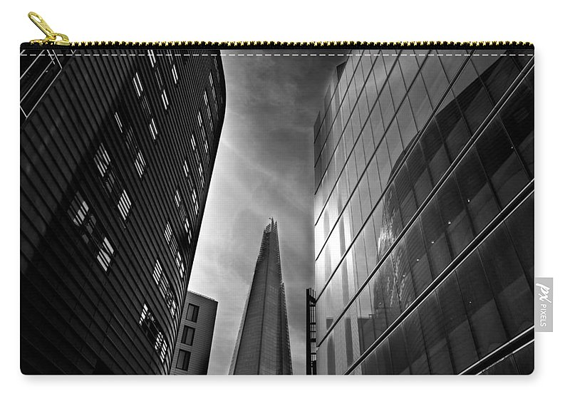 The Shard Carry-all Pouch featuring the photograph The Shard by David Pyatt