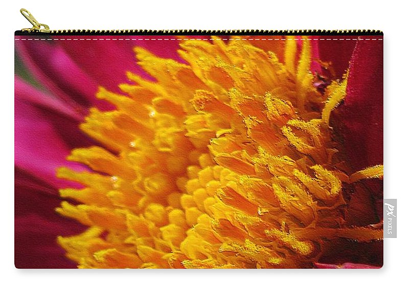 Dahlia Carry-all Pouch featuring the digital art Dahlia From The Showpiece Mix by J McCombie
