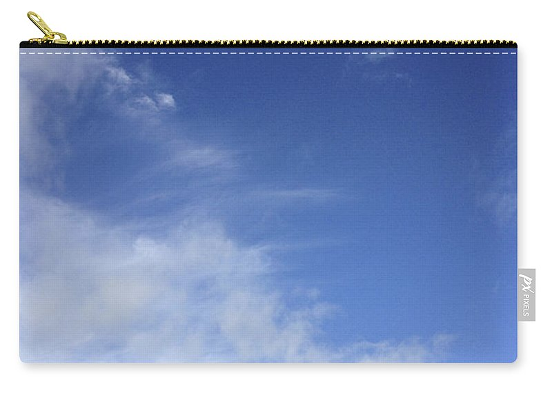 Blue Carry-all Pouch featuring the photograph Clouds by Les Cunliffe