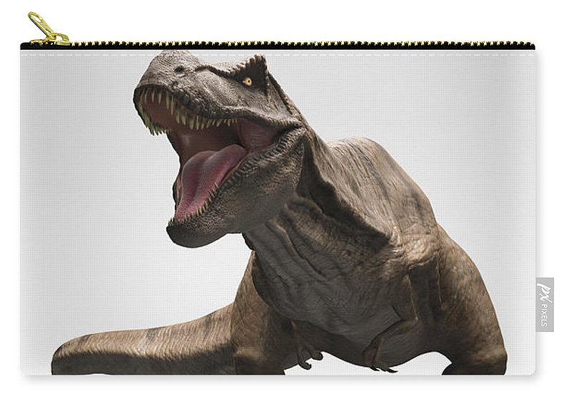 Digitally Generated Image Carry-all Pouch featuring the photograph Dinosaur Tyrannosaurus by Science Picture Co