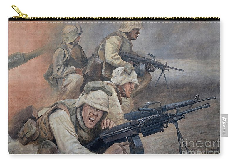 Mural Carry-all Pouch featuring the photograph 29 Palms Mural 1 by Bob Christopher