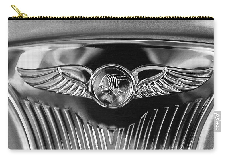 1933 Pontiac Emblem Carry-all Pouch featuring the photograph 1933 Pontiac Emblem by Jill Reger