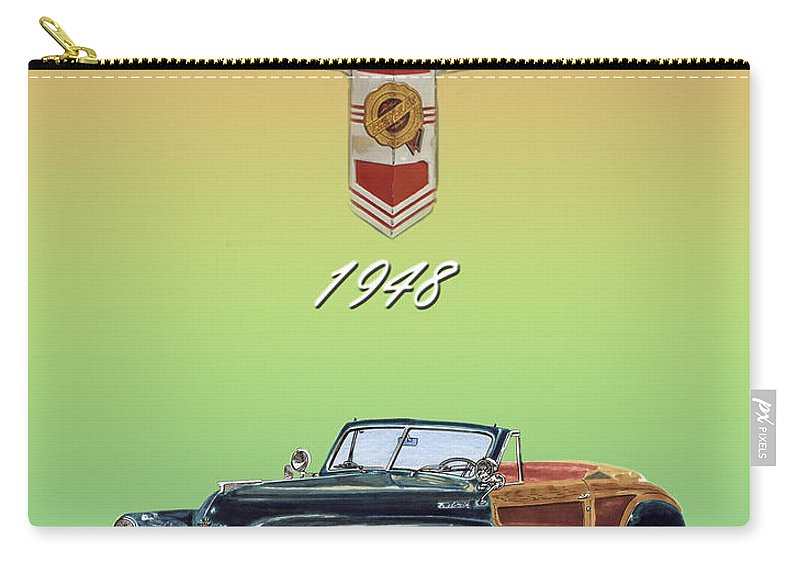 Framed Posters Of Chrysler Town & Country Convertibles.images Of 1941 Plymouth Woodies. Framed Photography Art Of Woody�s. Prints Of Cool Wood-paneled Station Wagons. Wrecked 1946 Ford Woody�s. Prints Of 1941 Plymouth Woodies. Prints Of 1941 Chrysler Town & Country Convertibles. Prints Of 1948 Ford Sportsmen Convertibles. Prints Of 1950 Ford Woody�s. Carry-all Pouch featuring the painting 1948 Chrysler Town And Country by Jack Pumphrey