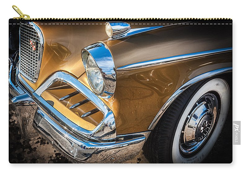 1957 Studebaker Carry-all Pouch featuring the photograph 1957 Studebaker Golden Hawk by Rich Franco