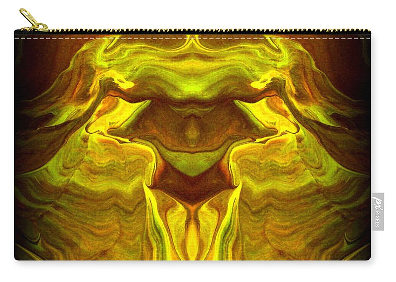 Original Carry-all Pouch featuring the painting Abstract 118 by J D Owen