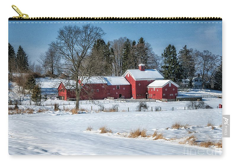 Winter Carry-all Pouch featuring the photograph Across The Field by Claudia Kuhn