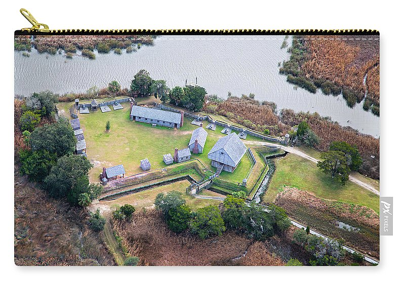 Aerial Carry-all Pouch featuring the photograph Aerial Near Jekyll Island by Betsy Knapp